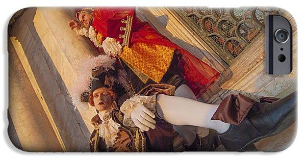 Hidden Desires iPhone Cases - Baroque Gentlemen 2 iPhone Case by Danilo Piccioni