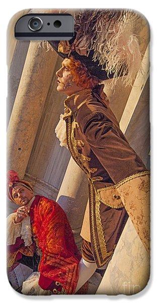 Hidden Desires iPhone Cases - Baroque Gentlemen 4 iPhone Case by Danilo Piccioni