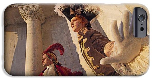 Hidden Desires iPhone Cases - Baroque Gentlemen  iPhone Case by Danilo Piccioni