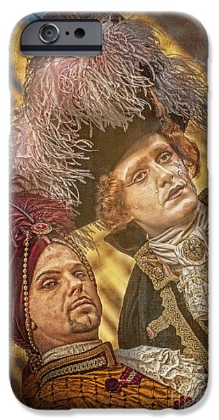 Hidden Desires iPhone Cases - Baroque Gents  iPhone Case by Danilo Piccioni