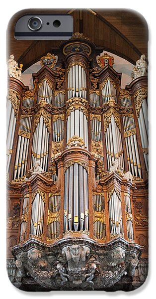 Recently Sold -  - Historic Site iPhone Cases - Baroque Grand Organ in Oude Kerk in Amsterdam iPhone Case by Artur Bogacki