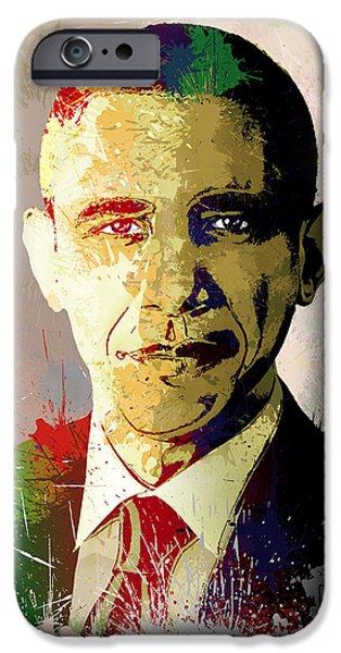 President Obama iPhone Cases - Barrack Obama iPhone Case by Anthony Mwangi
