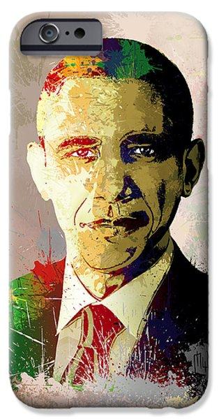 Barrack Obama iPhone Cases - Barrack Obama iPhone Case by Anthony Mwangi