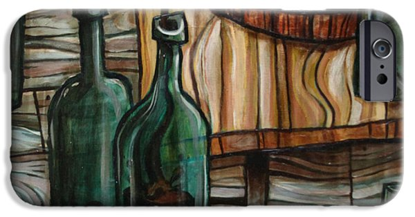 Wine Bottles Paintings iPhone Cases - Barrel to Bottle iPhone Case by Sean Hagan
