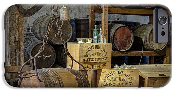 Historic Site iPhone Cases - Barrels iPhone Case by James Barber