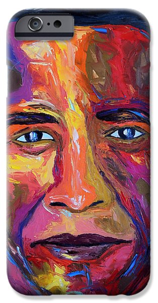 Barack Obama iPhone Cases - Barry iPhone Case by Arturo Garcia