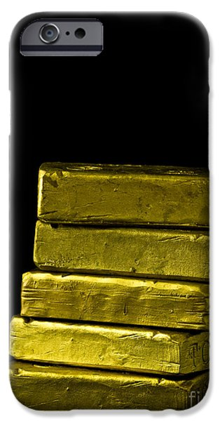 Banking iPhone Cases - Bars of Gold iPhone Case by Edward Fielding