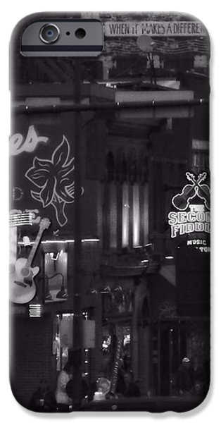 Bars On Broadway Nashville iPhone Case by Dan Sproul