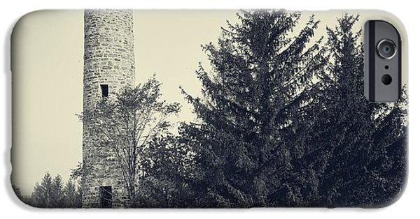 Observation iPhone Cases - Bartlett Tower Dartmouth College Hanover NH iPhone Case by Detroit Publishing