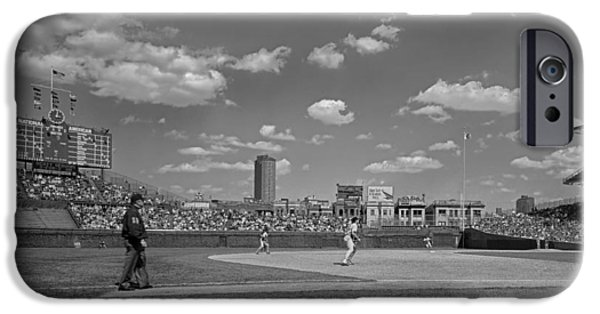 Wrigley iPhone Cases - Baseball at Wrigley in the 1990s iPhone Case by Mountain Dreams