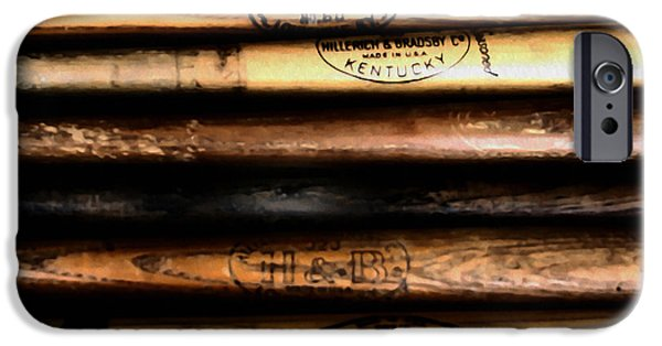 Bat Digital Art iPhone Cases - Baseball Bats iPhone Case by Bill Cannon