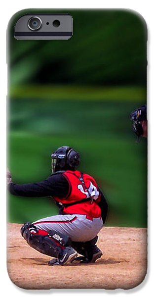 Baseball Batter Up iPhone Case by Thomas Woolworth