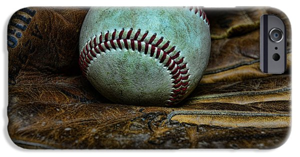 Baseball iPhone Cases - Baseball broken in iPhone Case by Paul Ward