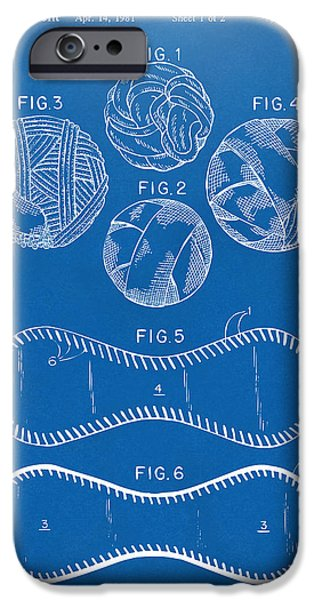 Baseball Construction Patent - Blueprint iPhone Case by Nikki Marie Smith