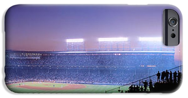 Baseball Stadiums iPhone Cases - Baseball, Cubs, Chicago, Illinois, Usa iPhone Case by Panoramic Images