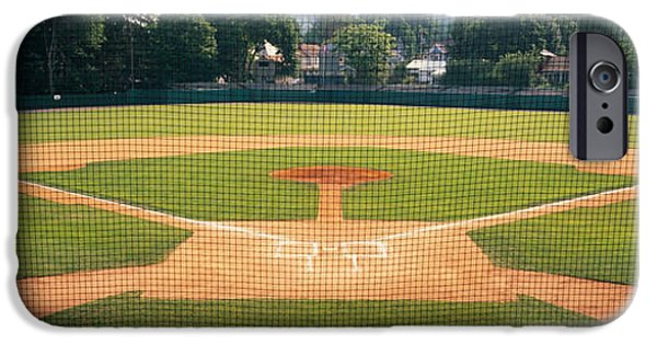 Baseball Stadiums iPhone Cases - Baseball Diamond Looked iPhone Case by Panoramic Images