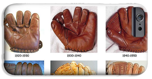 Baseball Glove iPhone Cases - Baseball Glove Evolution iPhone Case by David Bearden