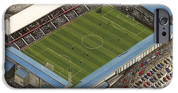 Baseball Stadiums Paintings iPhone Cases - Baseball Ground - Derby County iPhone Case by Kevin Fletcher