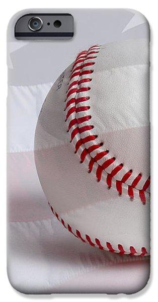 Baseball iPhone Case by Heidi Smith