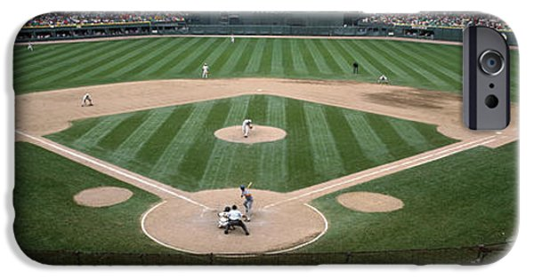 Baseball Stadiums iPhone Cases - Baseball Match In Progress, U.s iPhone Case by Panoramic Images