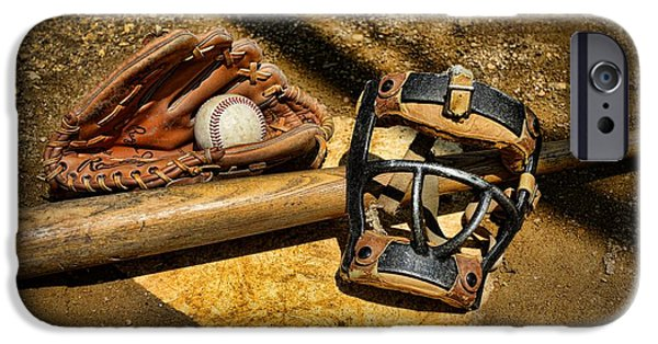 Pitchers Glove iPhone Cases - Baseball Play Ball iPhone Case by Paul Ward