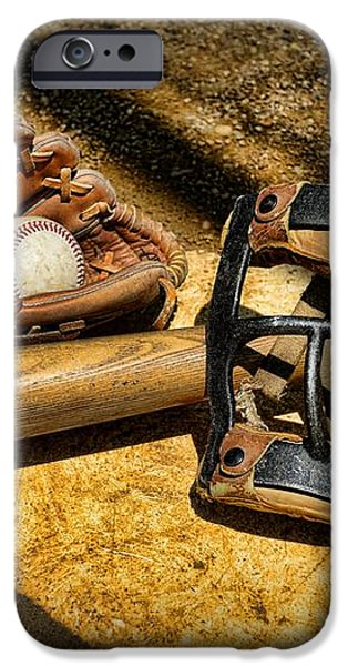 Baseball Play Ball iPhone Case by Paul Ward