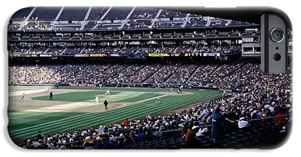 Safeco iPhone Cases - Baseball Players Playing Baseball iPhone Case by Panoramic Images