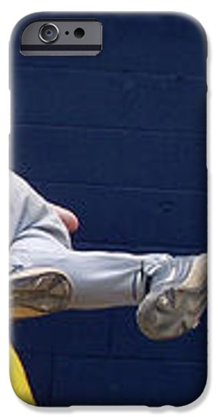 Baseball Playing Hard 3 Panel Composite 02 iPhone Case by Thomas Woolworth