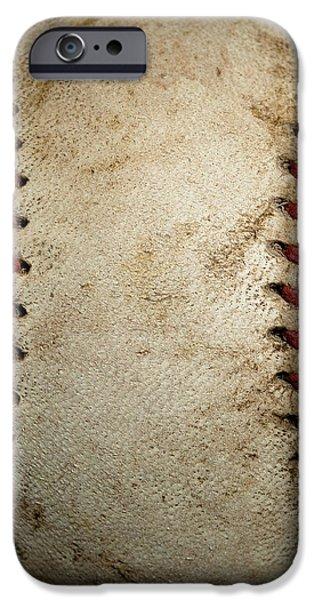 Baseball Seams iPhone Case by David Patterson
