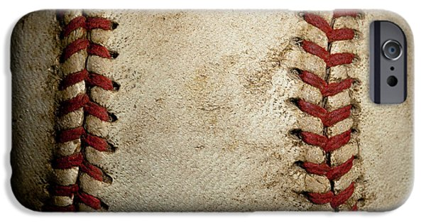 David Patterson iPhone Cases - Baseball Seams iPhone Case by David Patterson