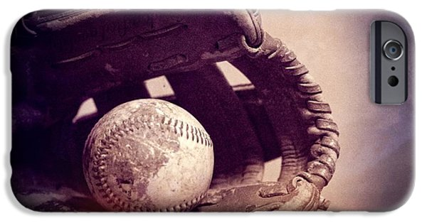 Baseball Glove iPhone Cases - Baseball Season iPhone Case by Dan Sproul