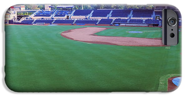 Baseball Parks iPhone Cases - Baseball Stadium In A City, Durham iPhone Case by Panoramic Images