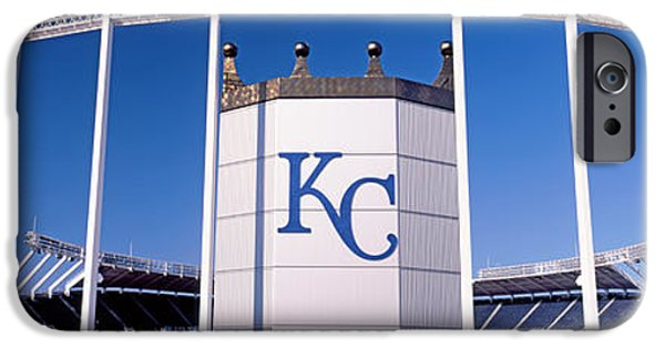 Baseball Stadiums iPhone Cases - Baseball Stadium, Kauffman Stadium iPhone Case by Panoramic Images