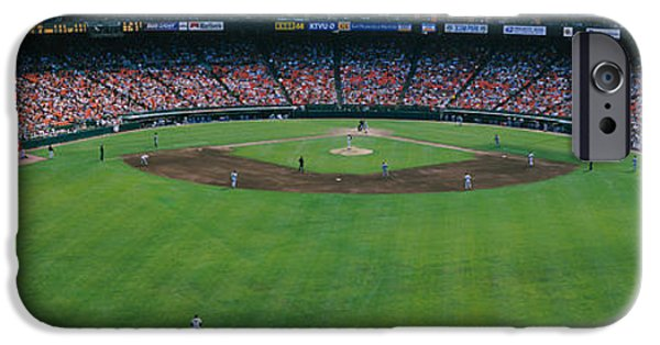 Baseball Stadiums iPhone Cases - Baseball Stadium, San Francisco iPhone Case by Panoramic Images