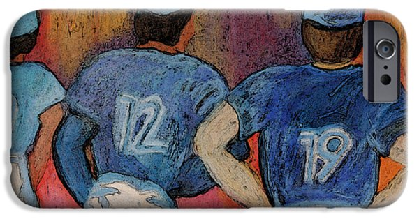 Baseball Stadiums Paintings iPhone Cases - Baseball Team by jrr  iPhone Case by First Star Art
