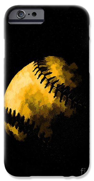 Pastimes iPhone Cases - Baseball the American Pastime iPhone Case by Edward Fielding