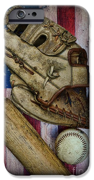 Baseball iPhone Cases - Baseball the Lefty iPhone Case by Paul Ward