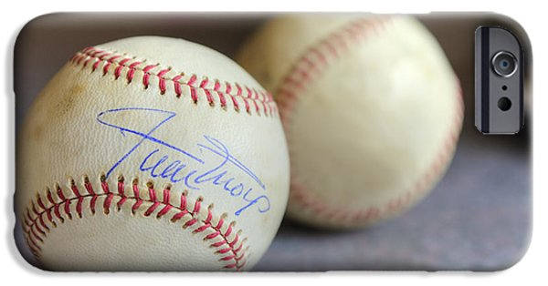 Autographed iPhone Cases - Baseball Treasures iPhone Case by Dianne Phelps