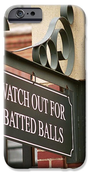 Baseball Warning iPhone Case by Frank Romeo