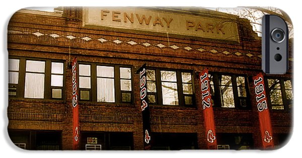 Boston iPhone Cases - Baseballs Classic  Bostons Fenway Park iPhone Case by Iconic Images Art Gallery David Pucciarelli