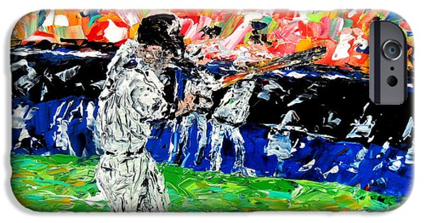 Pallet Knife Paintings iPhone Cases - Bases Loaded  iPhone Case by Mark Moore