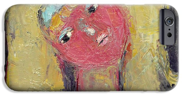 Becky Kim Paintings iPhone Cases - Bashful iPhone Case by Becky Kim