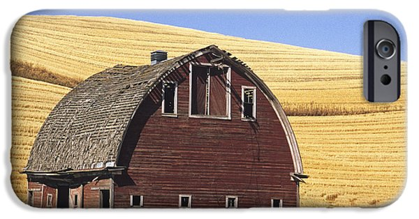 Contour Farming iPhone Cases - Basic Palouse Barn iPhone Case by Latah Trail Foundation