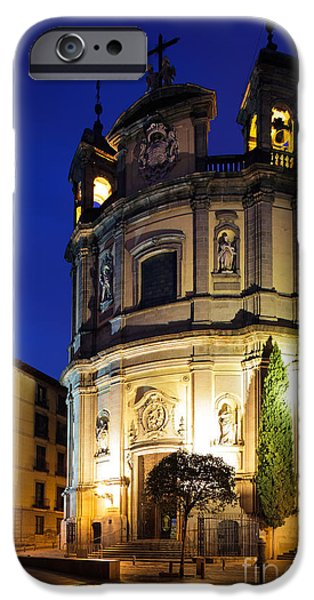Christianity iPhone Cases - Basilica de San Miguel iPhone Case by Inge Johnsson