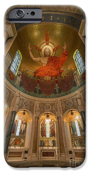 Christ In Majesty iPhone Cases - Basilica of the National Shrine iPhone Case by John Greim