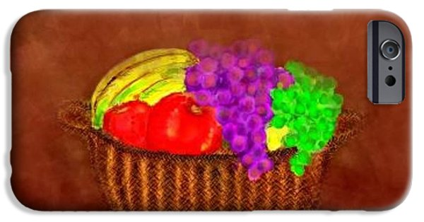 Basket Pastels iPhone Cases - Basket of Bounty iPhone Case by Renee Michelle Wenker