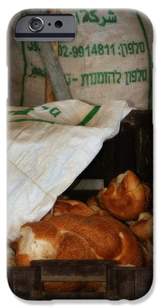 Work Tool Digital iPhone Cases - Basket of Bread iPhone Case by Michael Braham