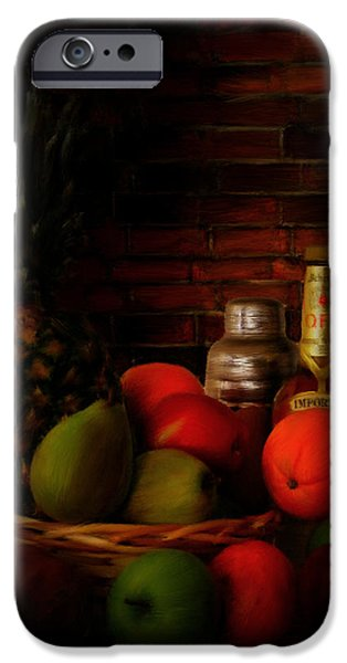 Wine Bottles iPhone Cases - Basket Of Colors iPhone Case by Lourry Legarde