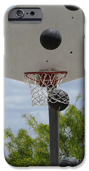 Dunk iPhone Cases - Basketball - All Net iPhone Case by Ella Kaye Dickey
