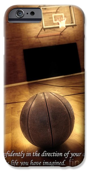 Basketball and Success iPhone Case by Lane Erickson